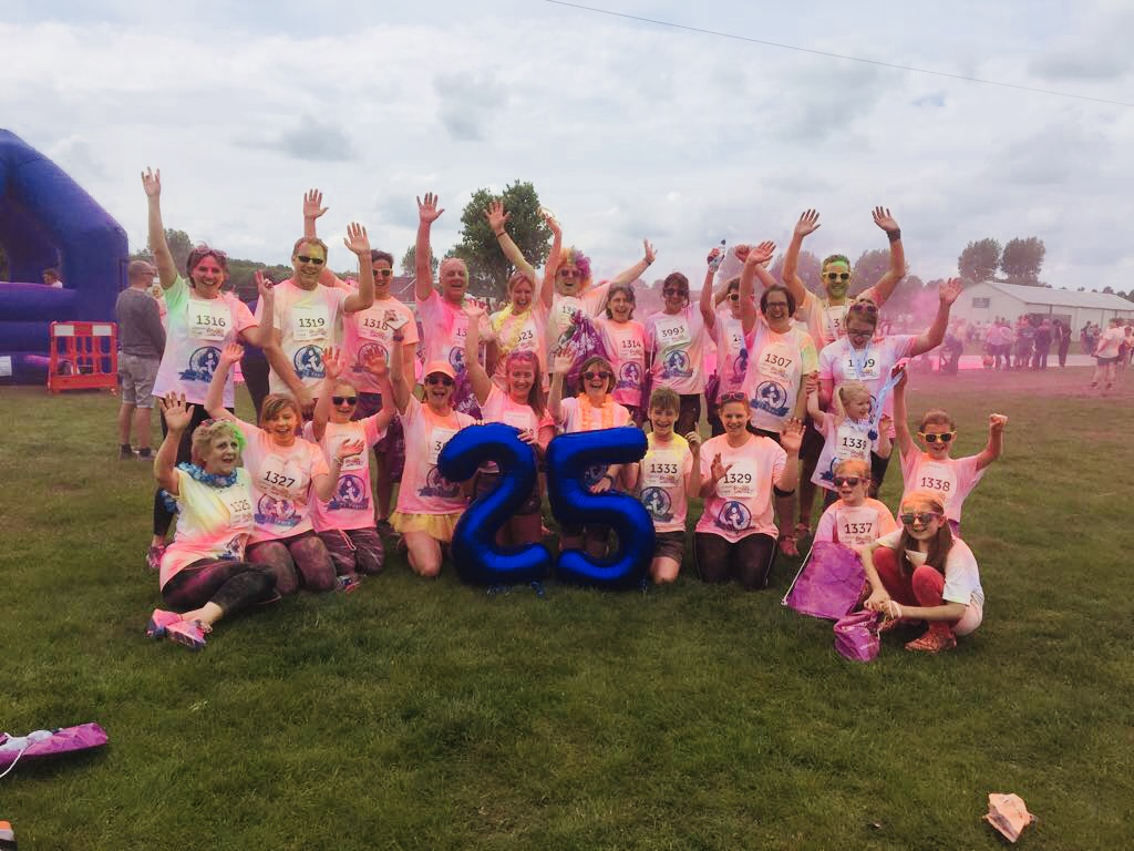 Lincolnshire Physiotherapy & Sports Injuries clinics staff take part in colour dash 2018