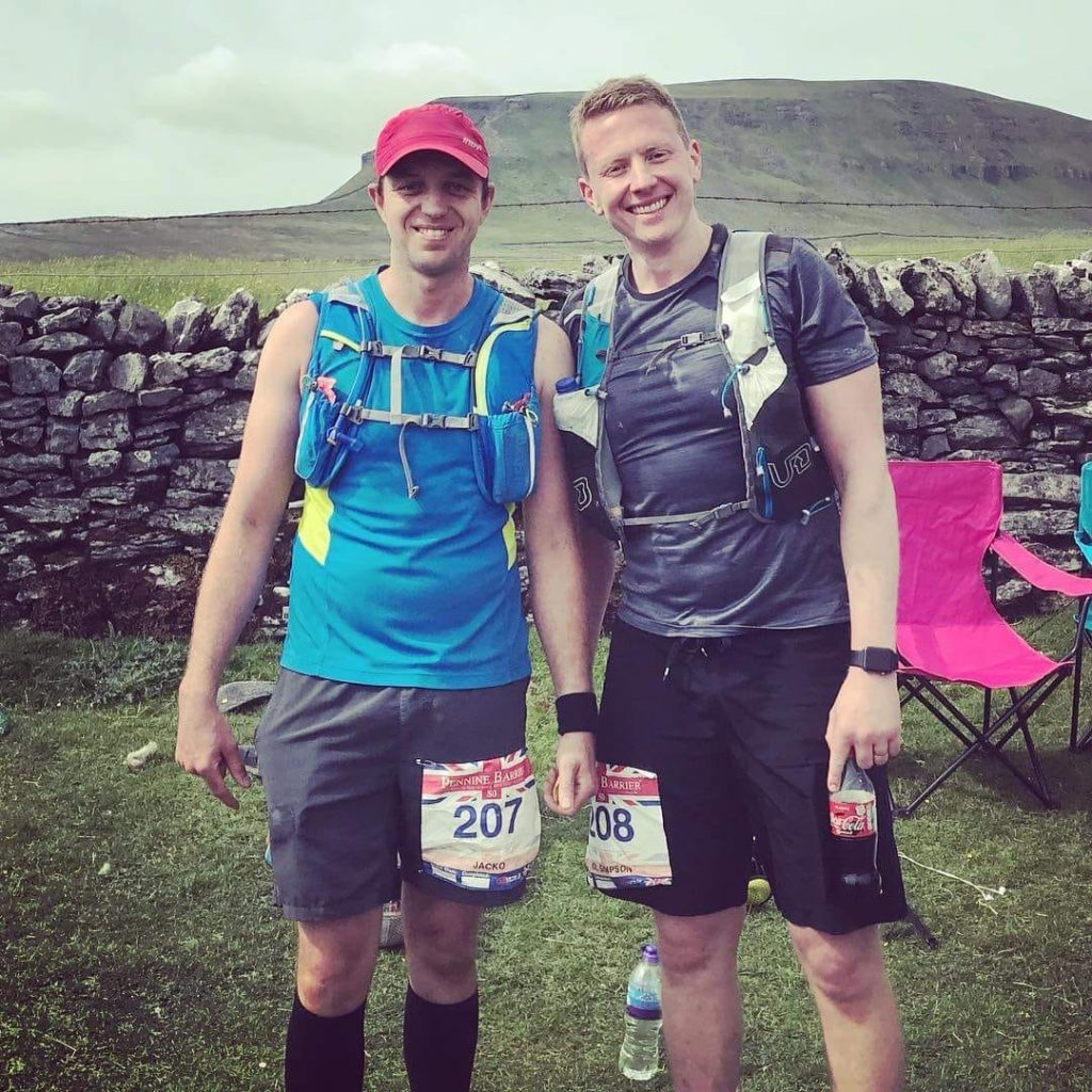 Lincoln Physiotherapist Jack Shaw during his pennine barrier race