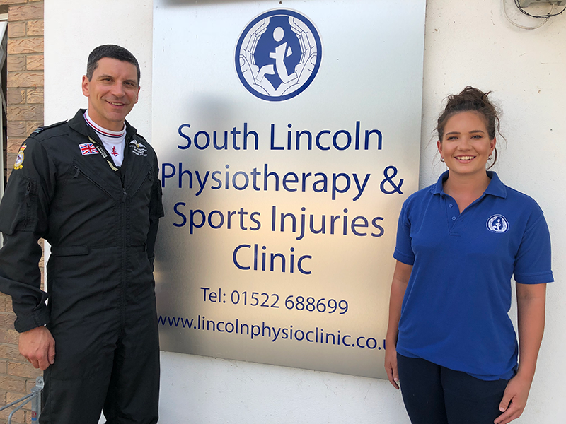 sports massage, lincoln physiotherapy & sports injuries clinics, jim peterson, RAF typhoon display team pilot, charity bike ride, recovery